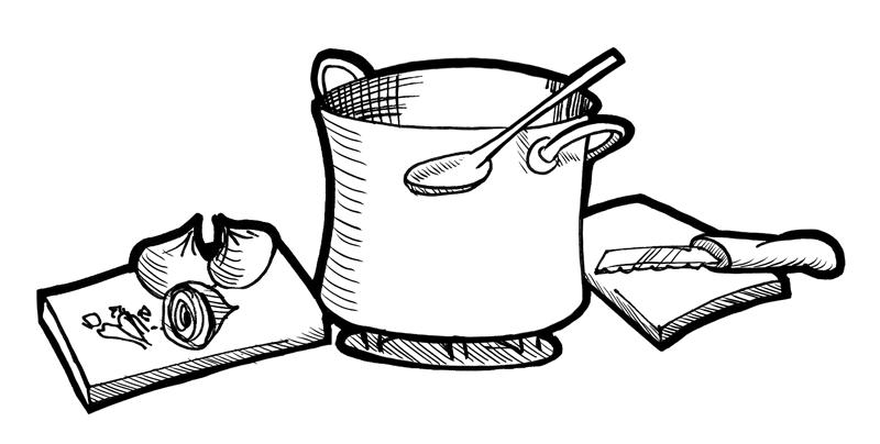 Illustration Kochen ohne Dampf