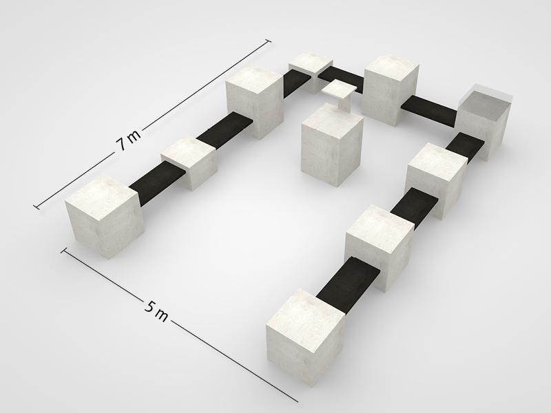 Ausstellungsplan U-Form