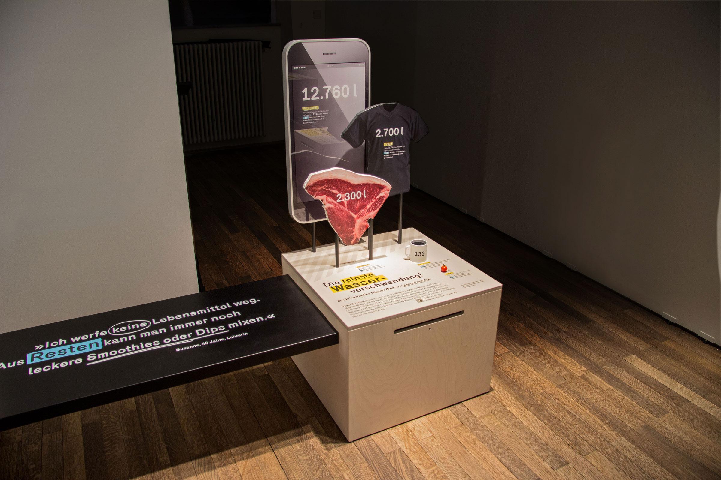 Gesamtaufnahme der Kiste »Virtuelles Wasser«
